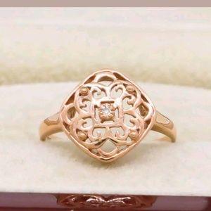 Estate Jewelry - GENUINE DIAMOND FILIGREE 14K ROSE GOLD/925
